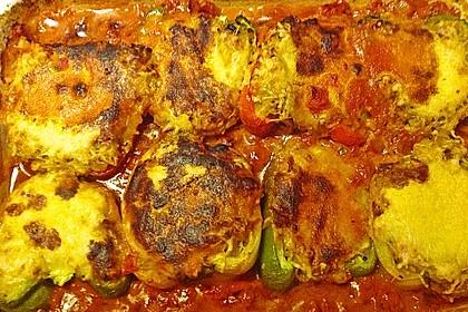 1A gefüllte Paprikaschoten mit Tomatenrahmsoße 44