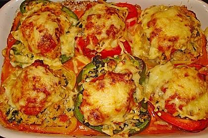 1A gefüllte Paprikaschoten mit Tomatenrahmsoße 8