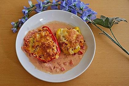1A gefüllte Paprikaschoten mit Tomatenrahmsoße 15