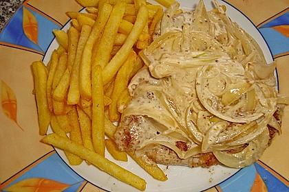Zwiebel - Sahne - Schnitzel 4