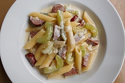 Sahnige Cabanossi - Nudel - Pfanne