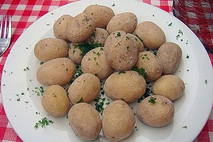 Runzelkartoffeln mit Knoblauchsoße 1