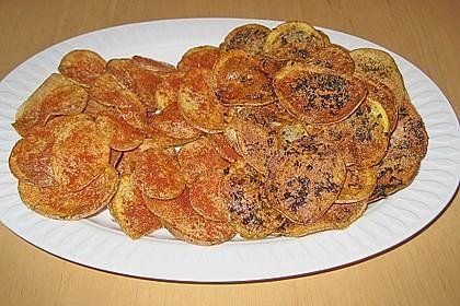 Selbst gemachte Kartoffelchips