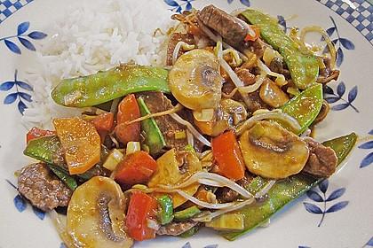 Gemüsepfanne mit Rindfleisch 2