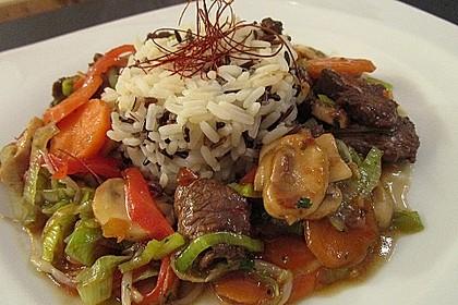 Gemüsepfanne mit Rindfleisch 1