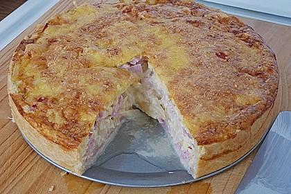 Spargelquiche mit Kochschinken, Champignons und Parmesan 2