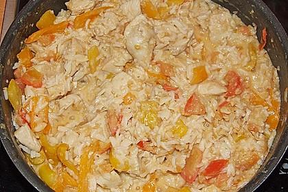 Hähnchenpfanne mit Zitronengras und Ingwer