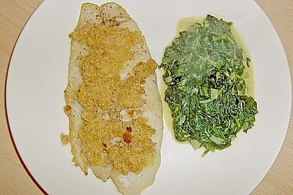Pangasius mit Ingwerkruste und Kokos - Spinat 1
