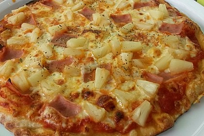 Pizza Hawaii kalorienarm 3