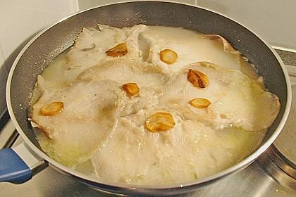 Rochenflügel in Calvados - Knoblauchsauce