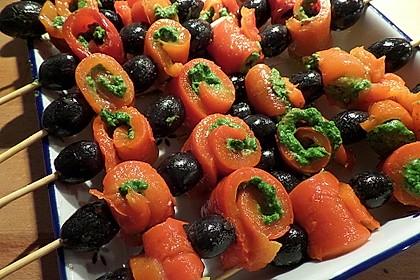 Paprika - Oliven - Spieße (Bild)