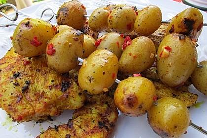 Feurige Kartoffelspieße vom Grill 3