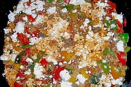 Griechische Reis - Tatar - Gemüse Pfanne 2