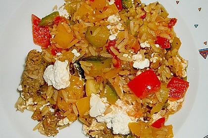 Griechische Reis - Tatar - Gemüse Pfanne 1