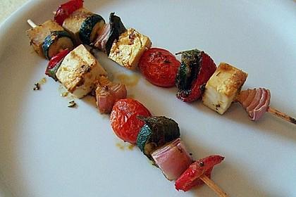 Feta - Gemüse - Grillspieße mit Salbei 3