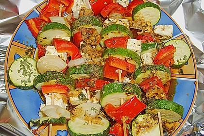 Feta - Gemüse - Grillspieße mit Salbei 8