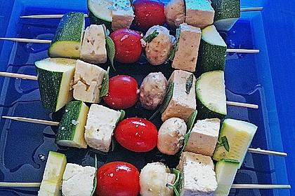 Feta - Gemüse - Grillspieße mit Salbei 5