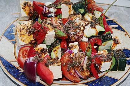 Feta - Gemüse - Grillspieße mit Salbei 4