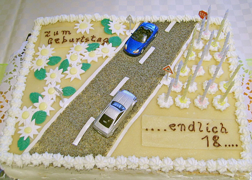 Führerschein Torte Zum 18 Geburtstag Von Cityfield2000 Chefkochde
