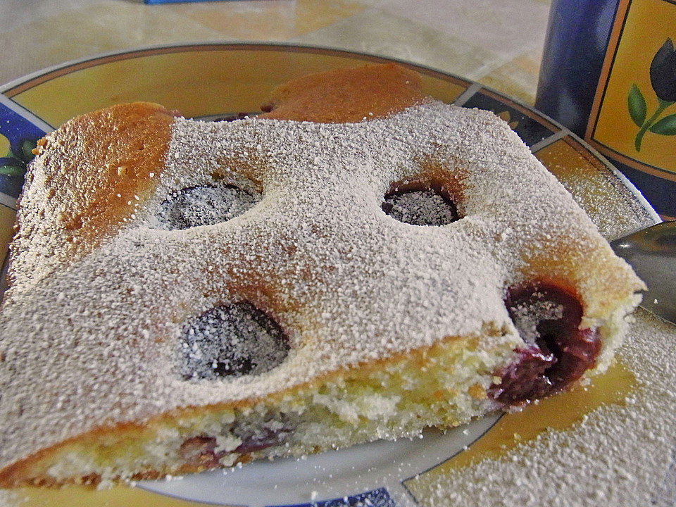 Kirschen Blechkuchen Ein Leckeres Rezept Chefkoch
