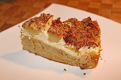 Apfelkuchen mit Quarkfüllung