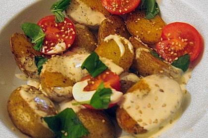 Bratkartoffelsalat mit Basilikum 1