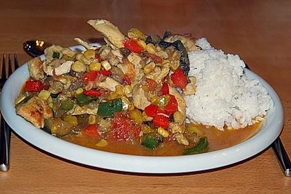 Curry - Reispfanne mit Hühnchen und Gemüse 1