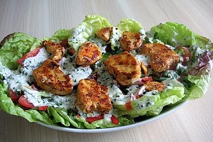 Bunter Salat mit Putenstreifen 9