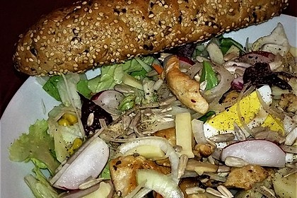 Bunter Salat mit Putenstreifen 5