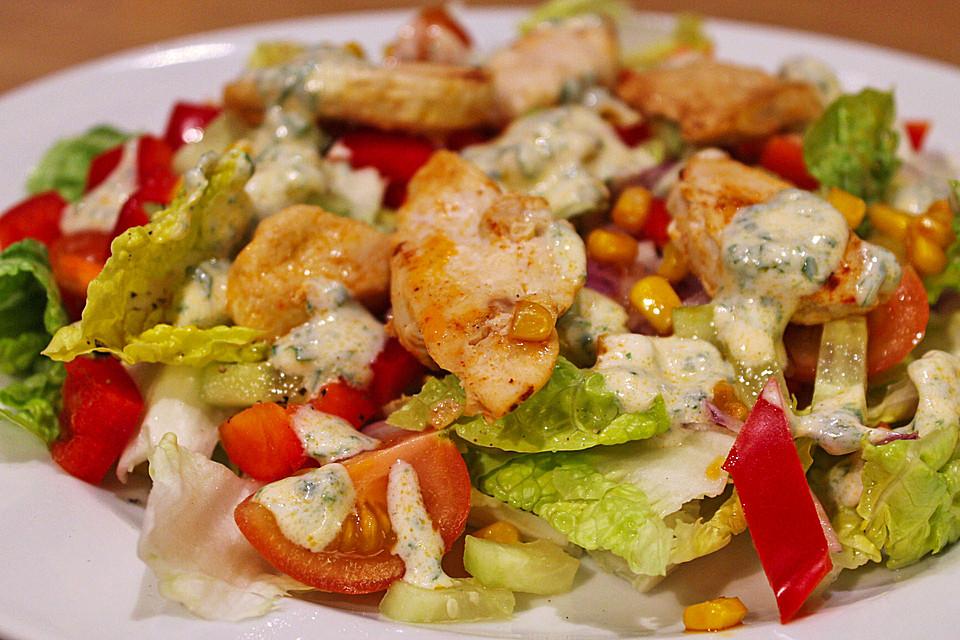 Bunter Salat Mit Putenstreifen Von Cookingjulie Chefkochde