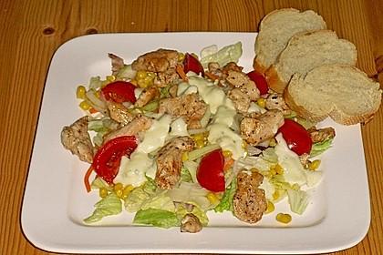 Bunter Salat mit Putenstreifen 17