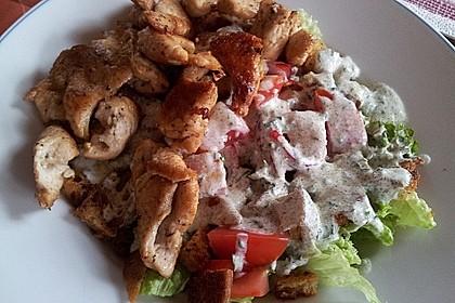 Bunter Salat mit Putenstreifen 21