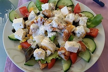 Bunter Salat mit Putenstreifen 2