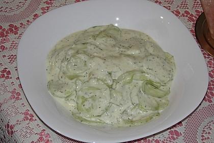 Gurkensalat mit Joghurt 20