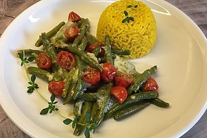 Bohnenauflauf mit Mozzarella (Bild)