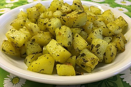 Kräuterbutter - Kartoffeln