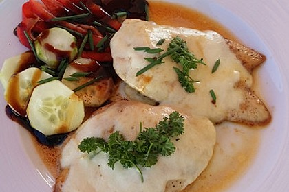 Putenschnitzel mit Mozarella 4