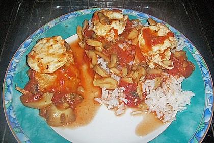 Putenschnitzel mit Mozarella 8
