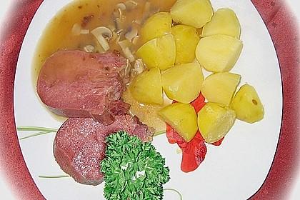Rinderzunge mit Champignon - Madeirasoße 3