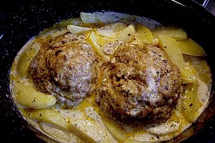 Hackbraten im Kartoffelbett 19