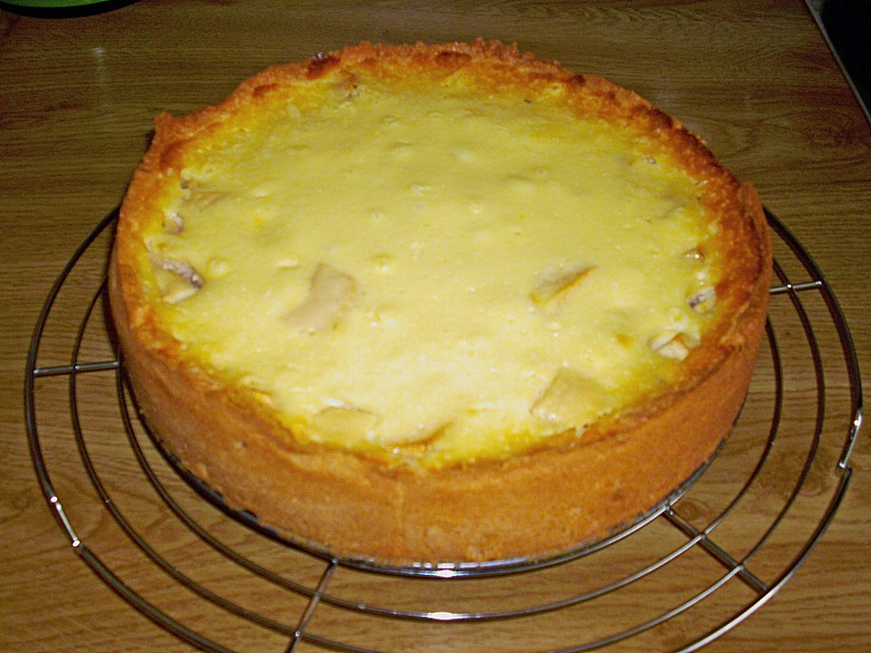Apfel Vanillekuchen Mit Creme Fraiche Von Sugar04 Chefkoch De