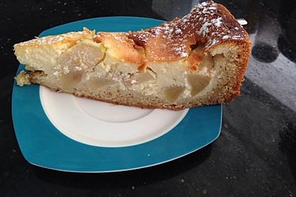 Apfel-Vanillekuchen mit Crème fraîche (Bild)