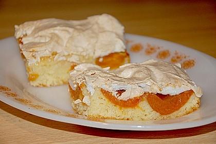 Marillenkuchen mit Vanillehäubchen