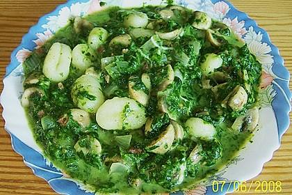Gnocchi mit Spinat - Schinken - Champignon - Frischkäse - Soße