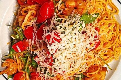 Garnelen - Rucola - Spaghetti (Bild)