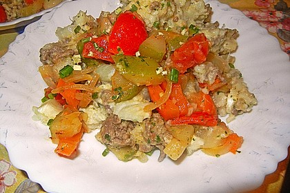 Blumenkohl - Hackfleisch - Salat
