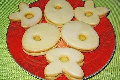 Zitronige Ostereier - Kekse 24