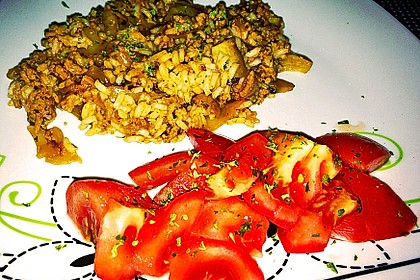 Spitzkohl-Champignon-Hack-Pfanne mit Reis 23