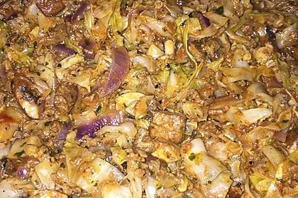 Spitzkohl-Champignon-Hack-Pfanne mit Reis 18