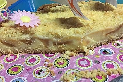 Leichter Apfelkuchen mit Vanillepudding und Streuseln 37
